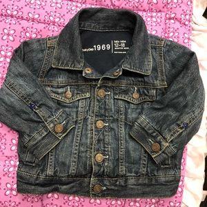 Baby gap 12-18m boys jersey lined jean jacket vguc